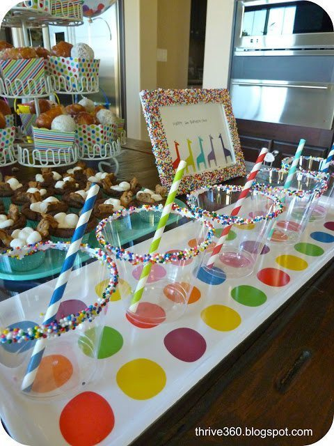 Sprinkle covered cups