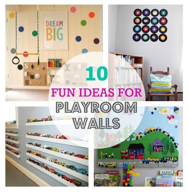10 fun ideas for playroom walls color made happy - Funny playroom with colorfull wall paint idea ...