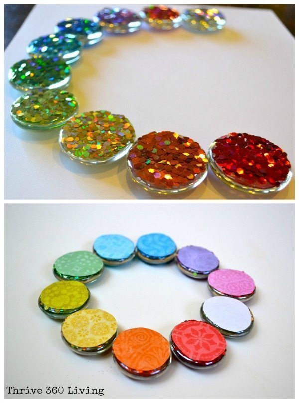 Diy glitter gems magnets color made happy for Glass jewels for crafts