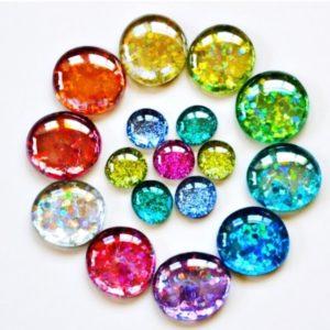DIY Glitter Gems & Magnets thumbnail