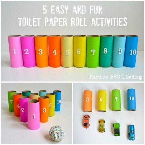 Bedwelming Wat te doen met lege wc rollen? Knutselen! #OQ96