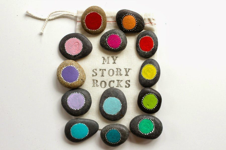 In addition to storytelling, painted rocks are wonderful for igniting ...