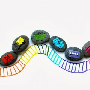 Train Rocks for Teaching Colors thumbnail