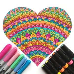 Valentine's Day Downloadable Coloring Pages thumbnail