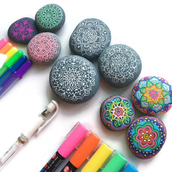Tips and Tools for Drawing on Rocks