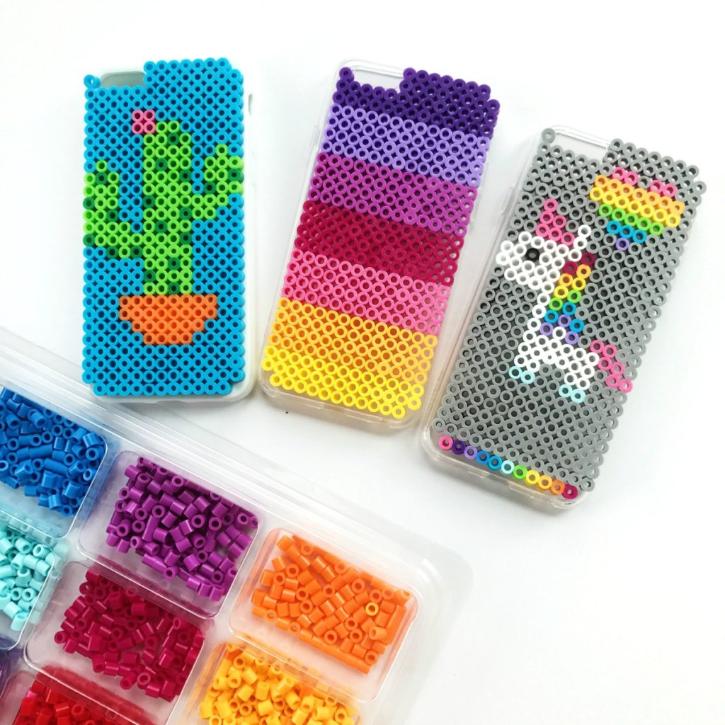 61eb122447 Perler Bead DIY iPhone Case Holder • Color Made Happy