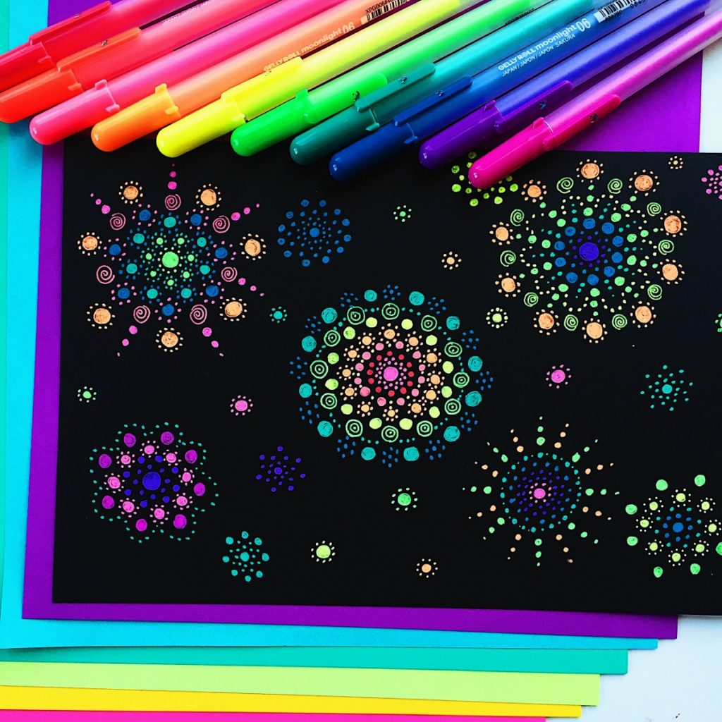 Markers for black paper