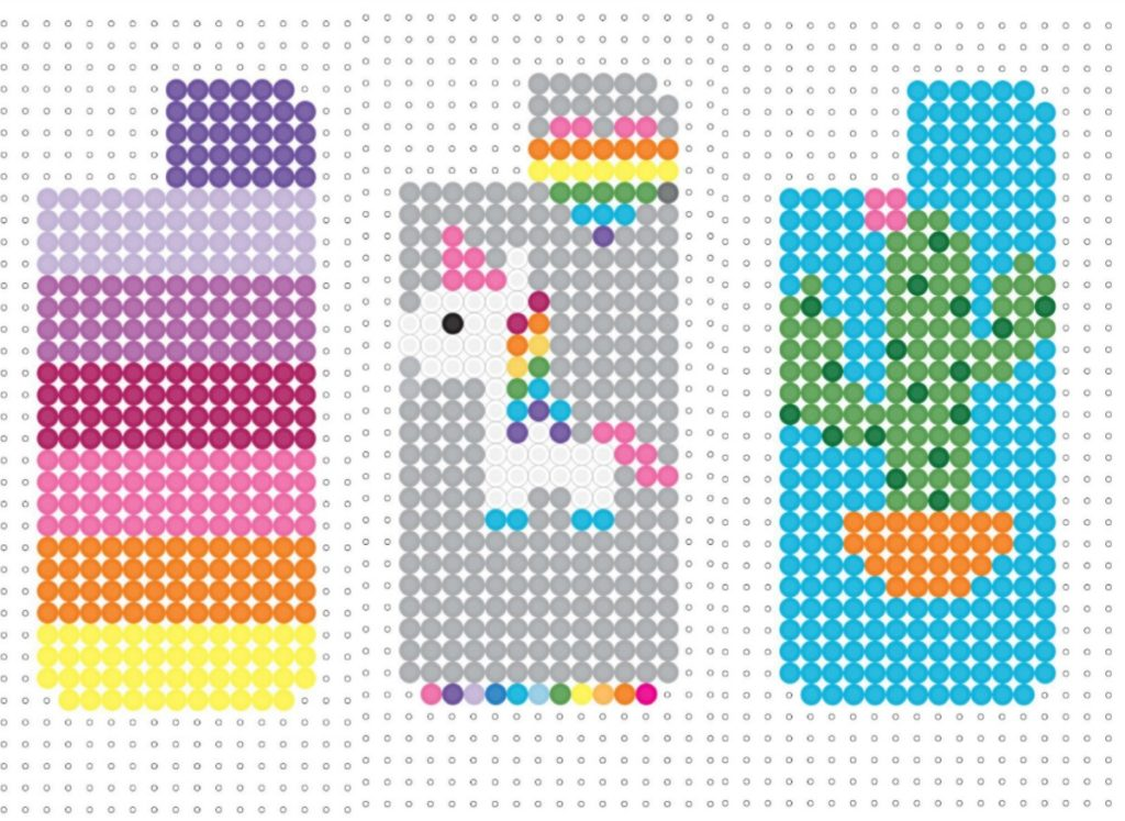 Perler bead diy iphone case holder color made happy - Hama beads fundas ...