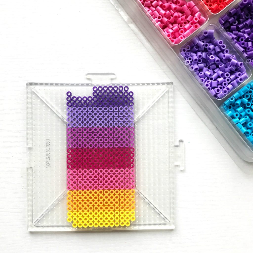 iPhone case made with hama beads