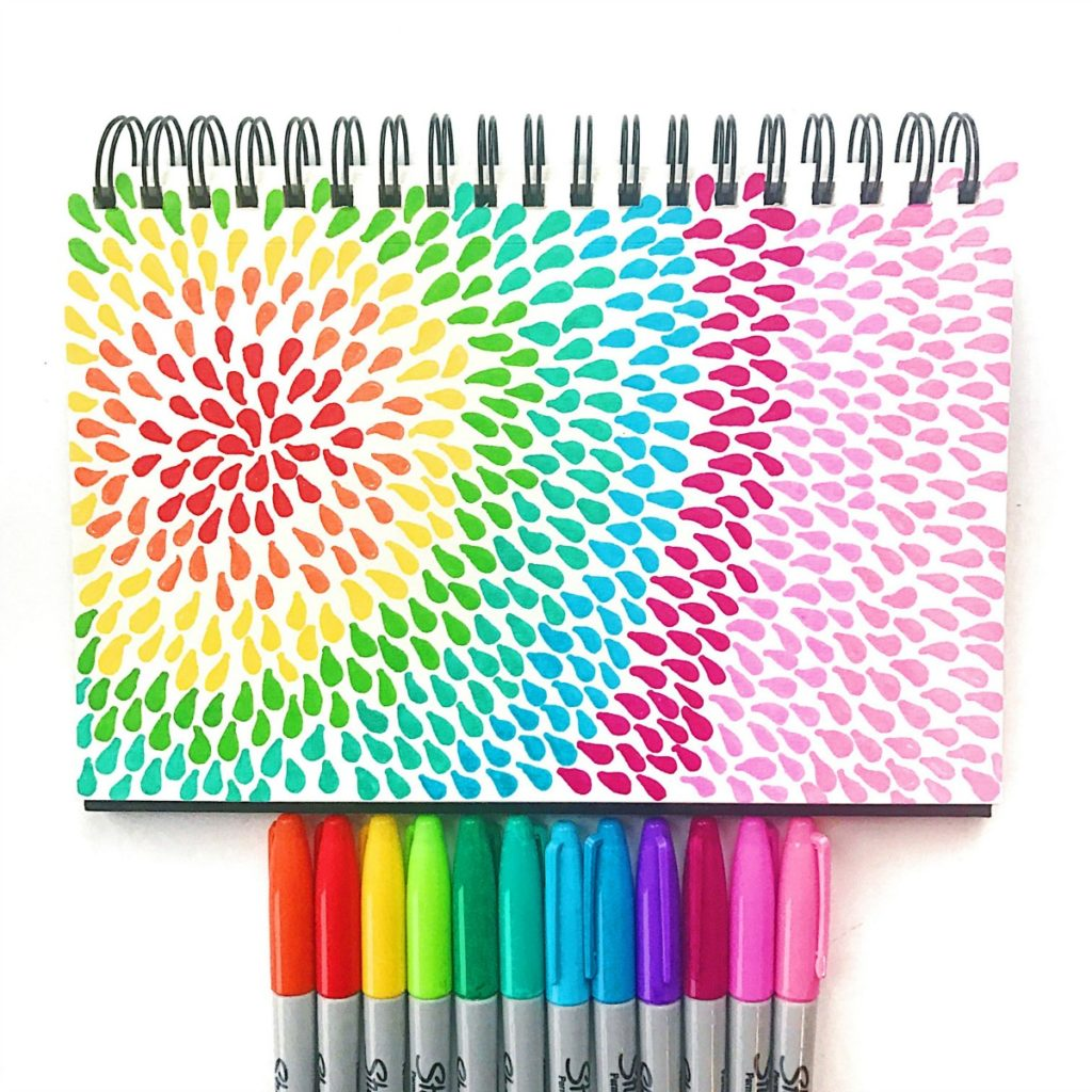 Sharpie burst • Color Made Happy