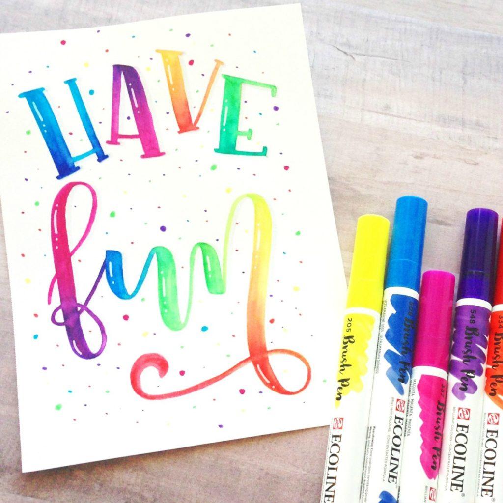 Hand Lettering using Ecoline Brush Pens