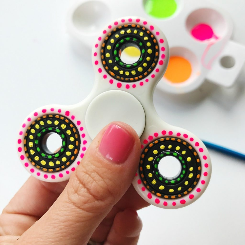 Painted DIY Fidget Spinner
