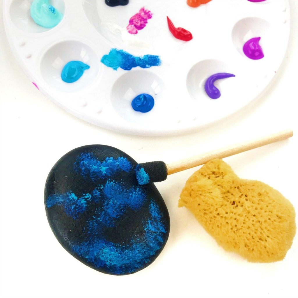 How to make galaxy painted stones