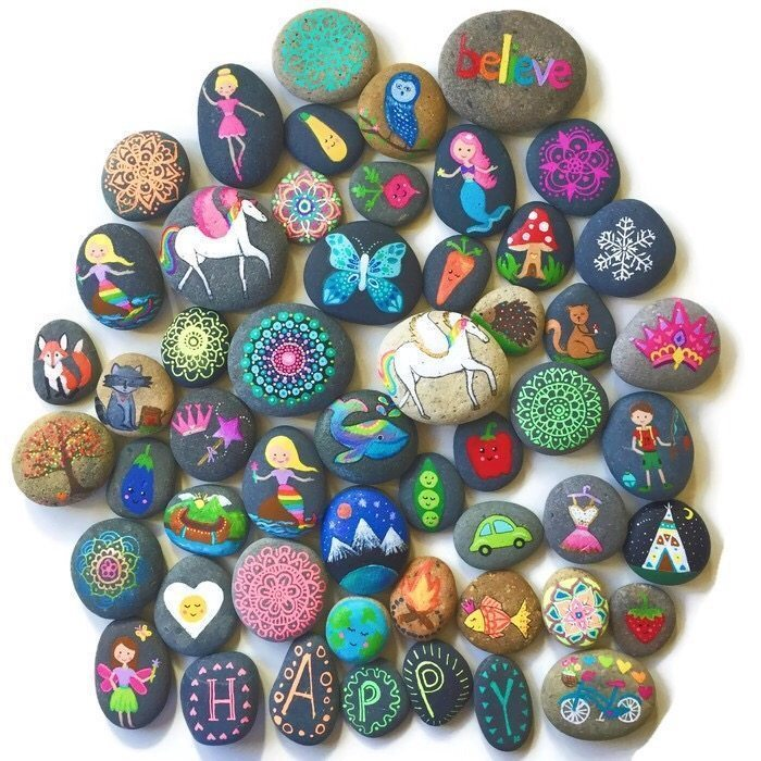 Names Of Decorative Stones : Painting rocks best supplies for and decorating