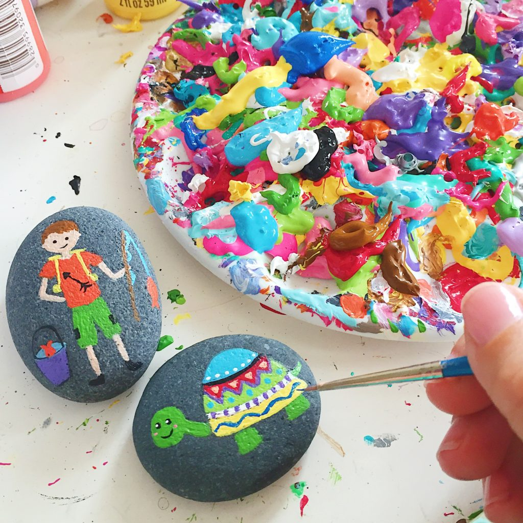 Supplies and Guide for Painting Rocks