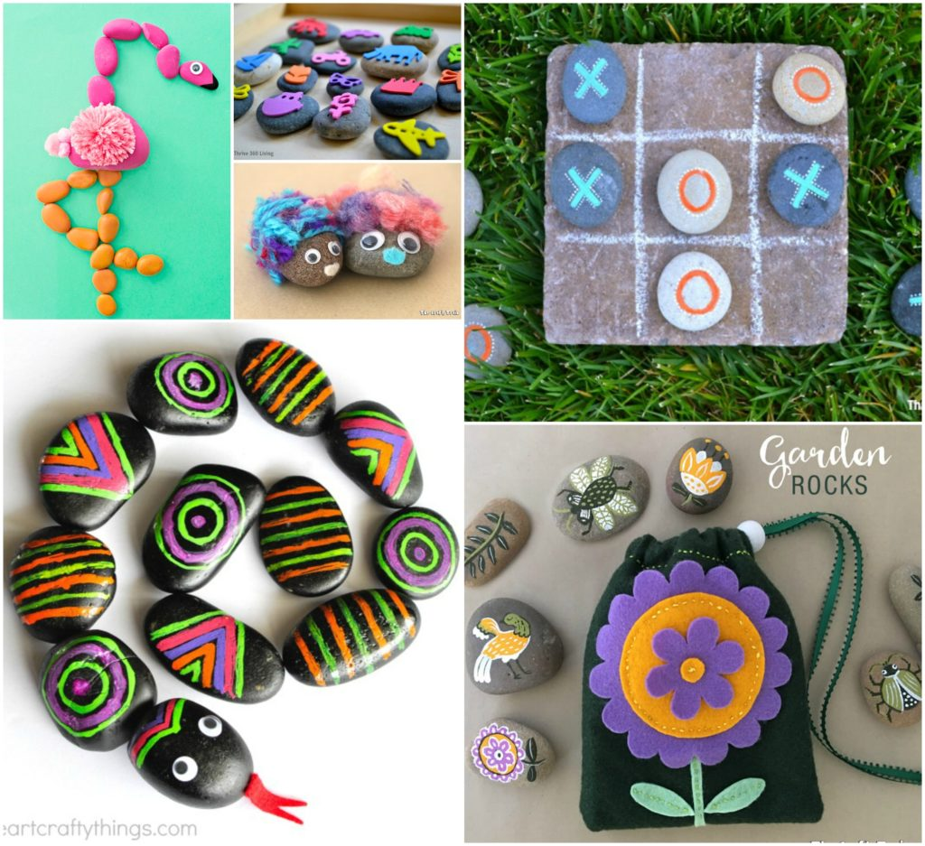 Rock Crafts For Kids 25 Creative Rock Painting Ideas Color Made Happy