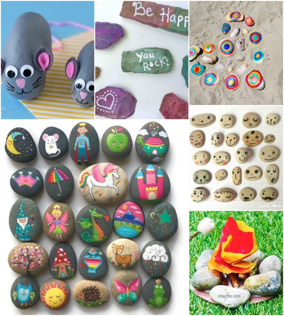 Rock Crafts For Kids 25 Creative Painting Ideas
