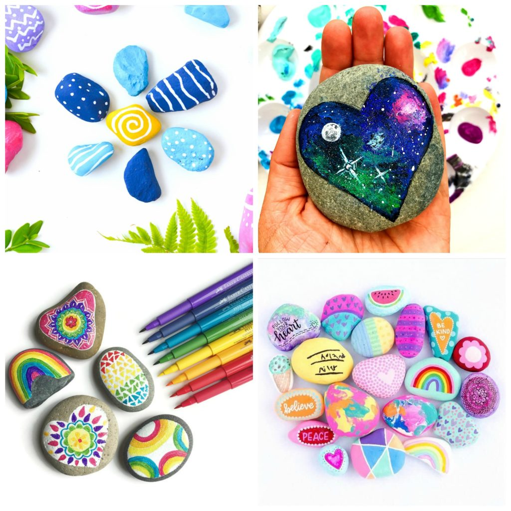 Rock crafts for kids 25 creative rock painting ideas for Painting ideas for children