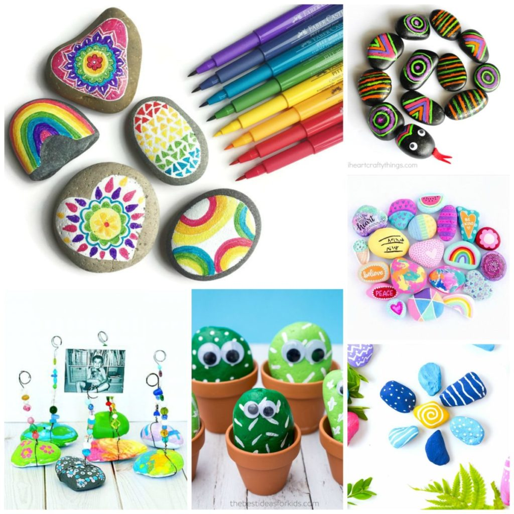 Rock crafts for kids 25 creative rock painting ideas for Michaels crafts jewelry supplies