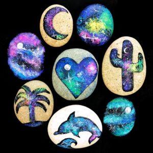 How to Make Galaxy Painted Rocks thumbnail
