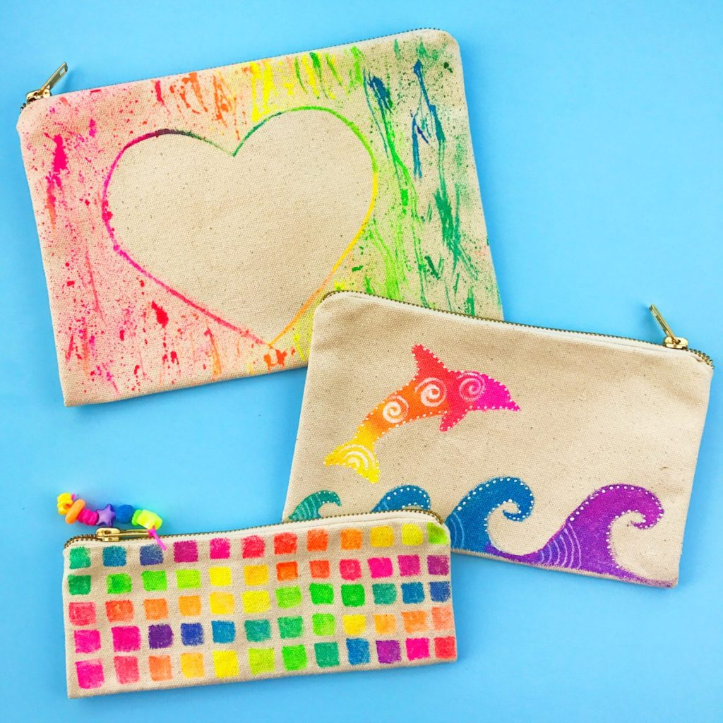 DIY Pen & Pencil Pouches Canvas Bags