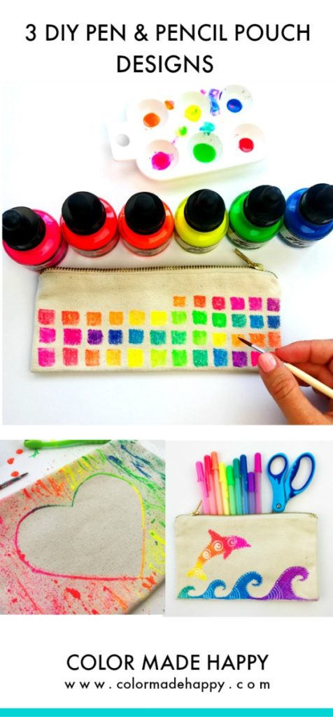 3 Fun DIY Pen & Pencil Pouch Ideas
