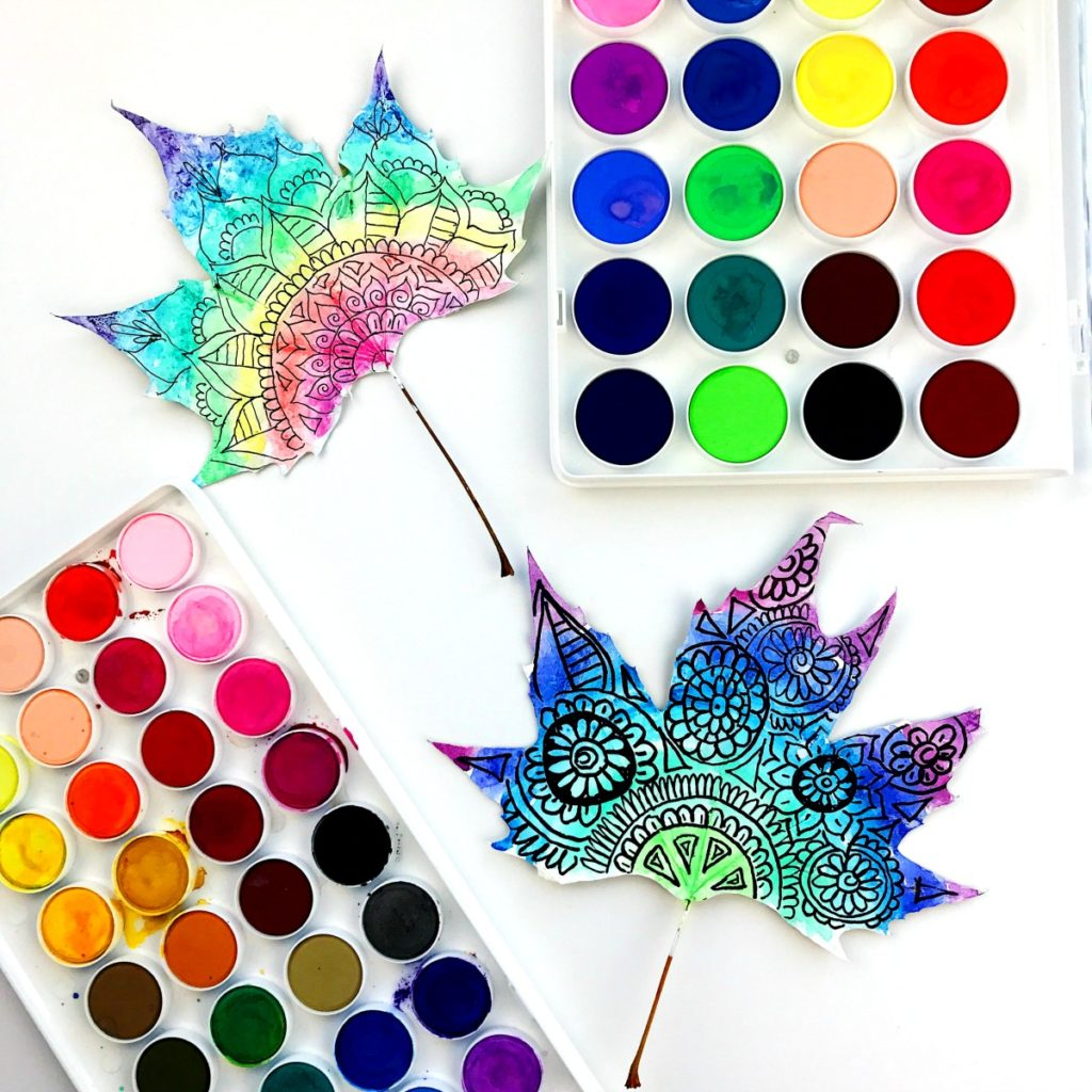 How to Make Watercolor Leaf Art