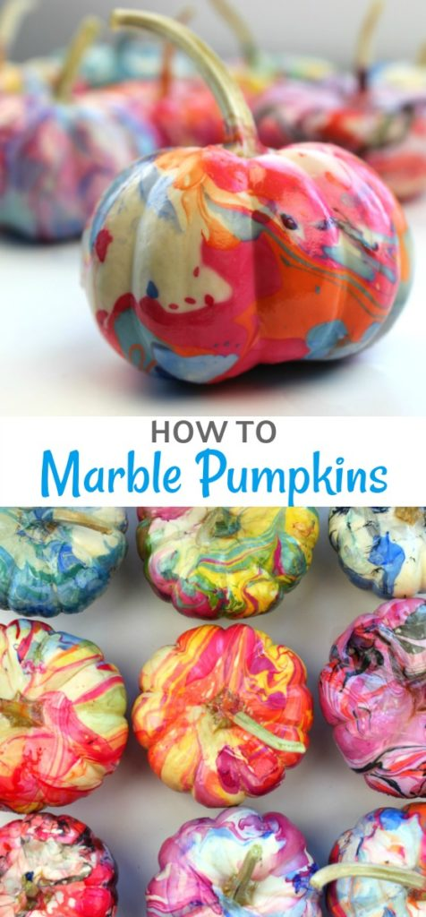 How to marble a pumpkin using nail polish