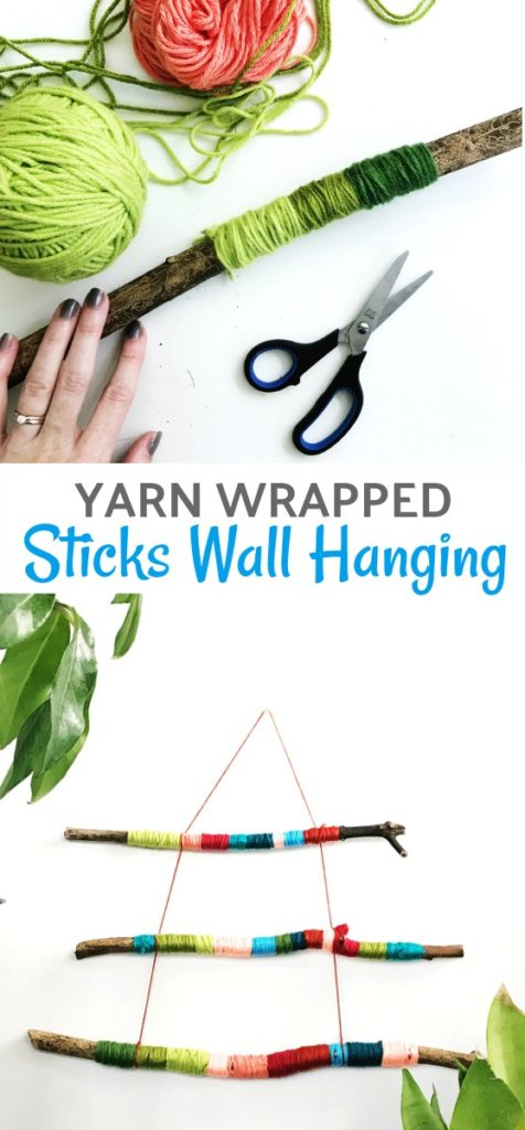 Yarn Wrapped Sticks Wall Hanging