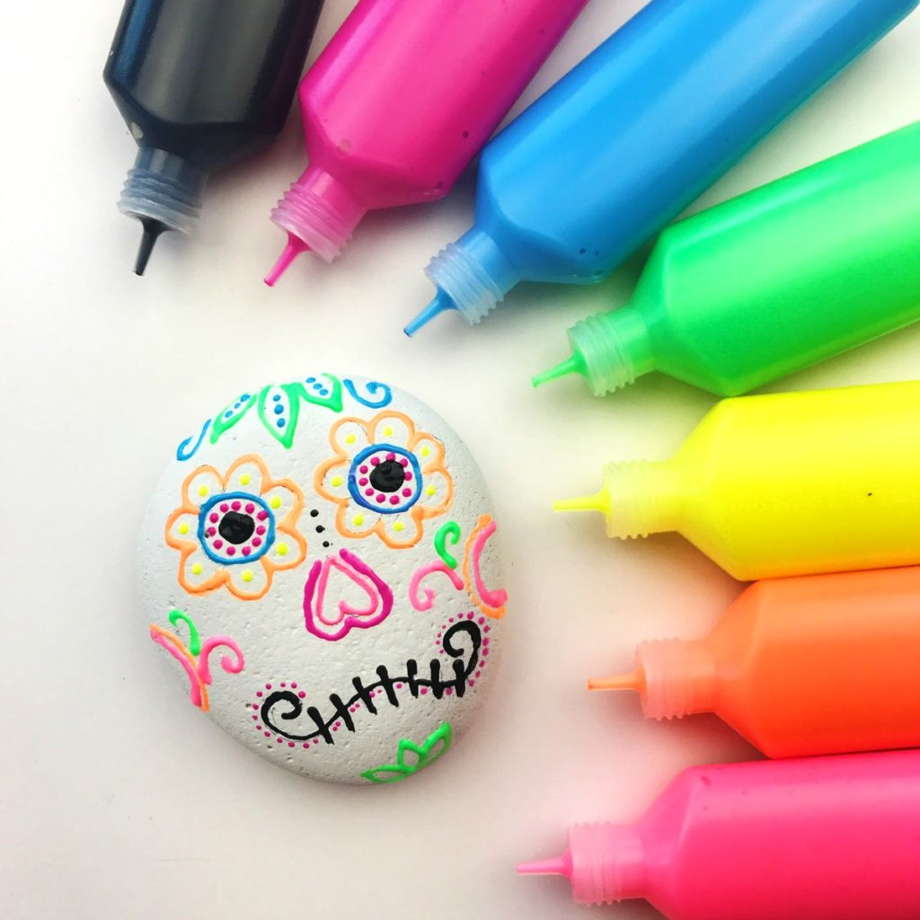 Sugar skull rocks craft