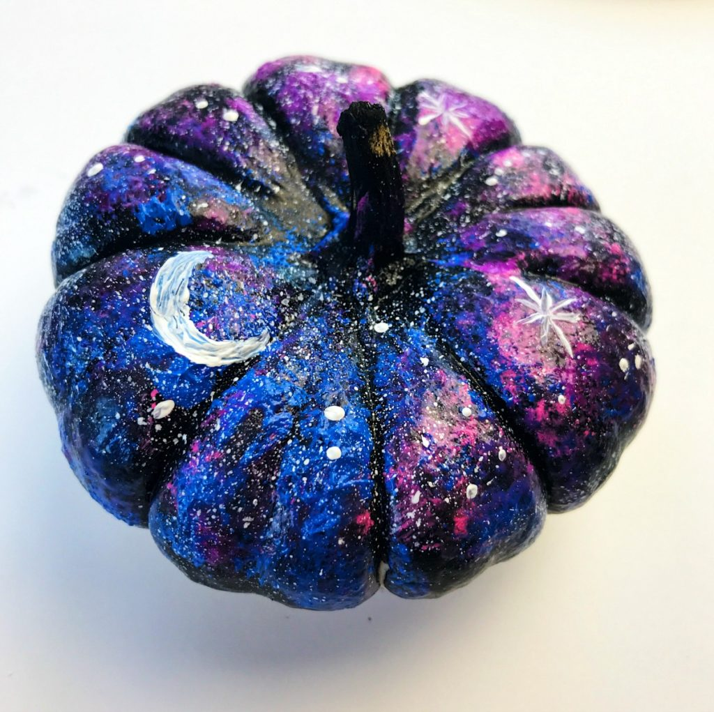 How to make a galaxy painted pumpkin