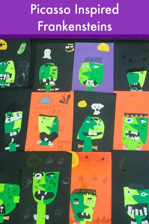 Halloween Picasso Frankensteins Craft