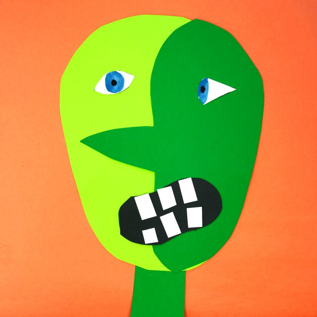 Picasso Inspired Frankenstein Craft