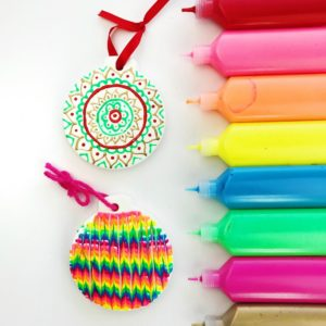 DIY Christmas Ornaments Puffy Paint Craft thumbnail