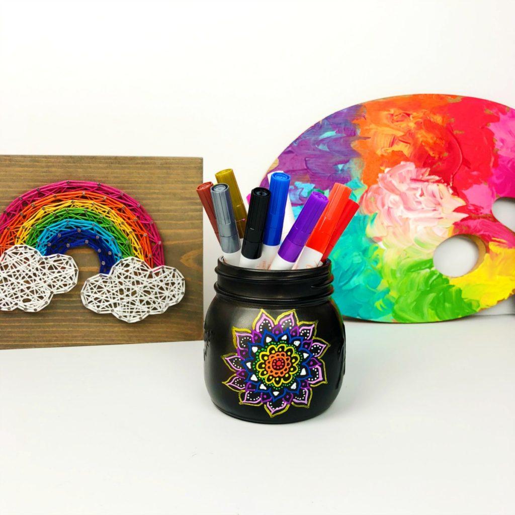 Doodle Mason Jar Decorating