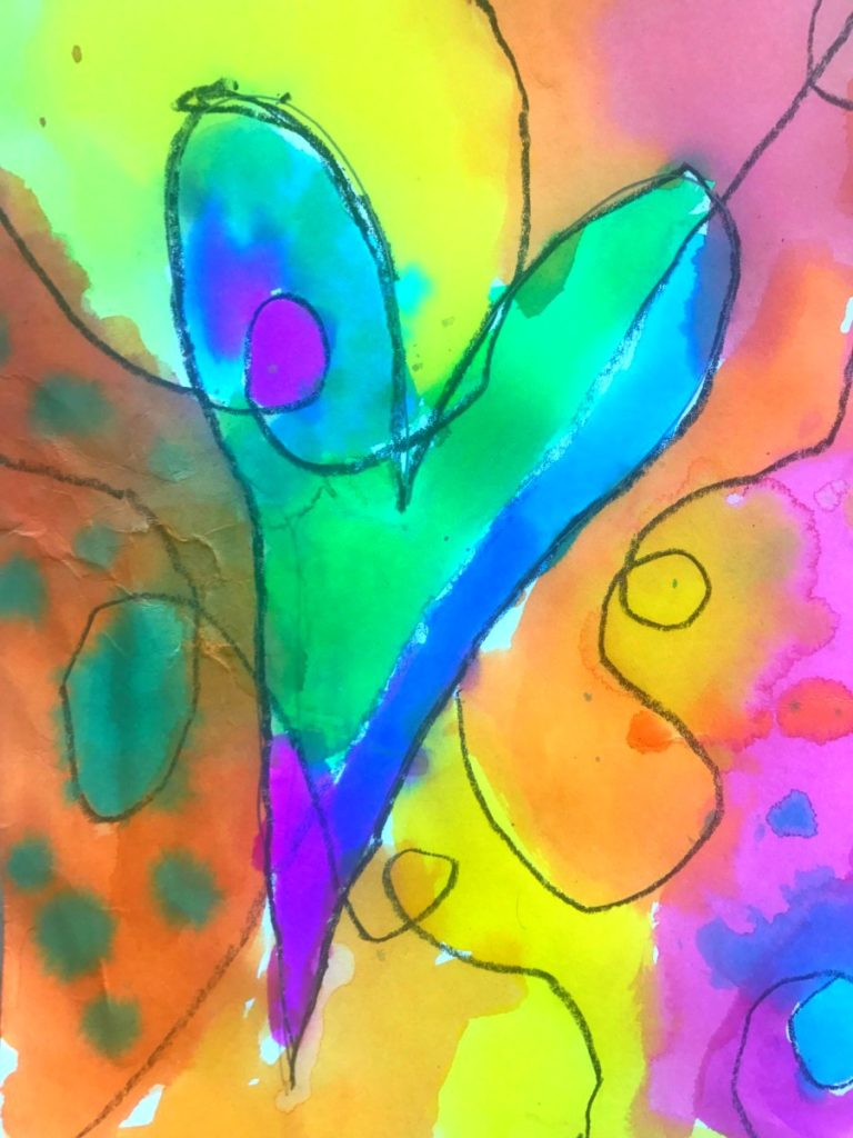 Heart Art Liquid Watercolors