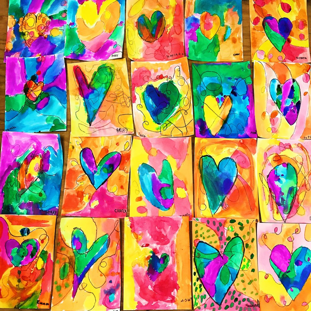 Heart Art Project with Liquid Watercolors