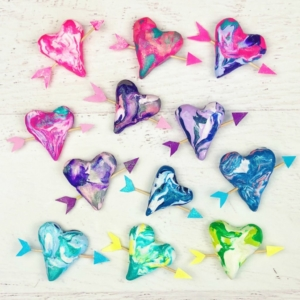 Valentine's Day Craft - Polymer Clay Hearts