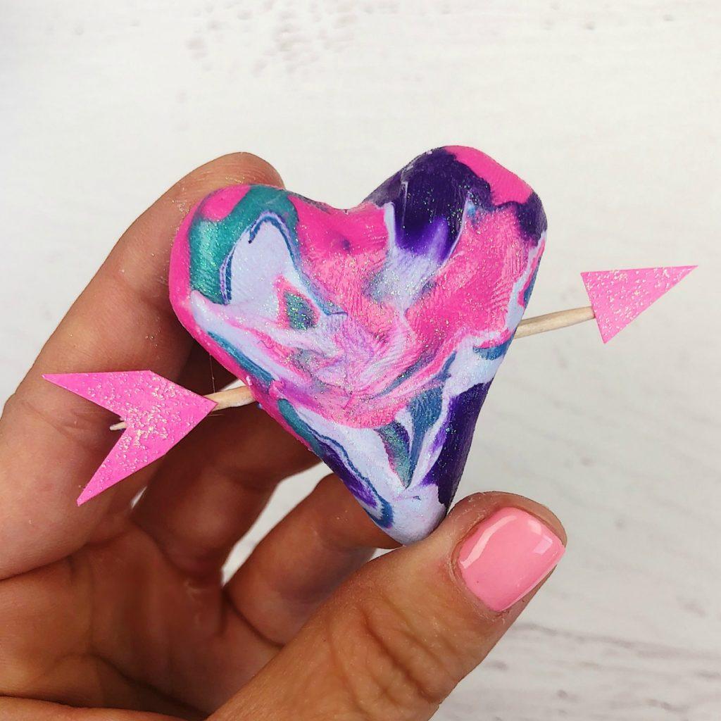 Marble Clay Hearts