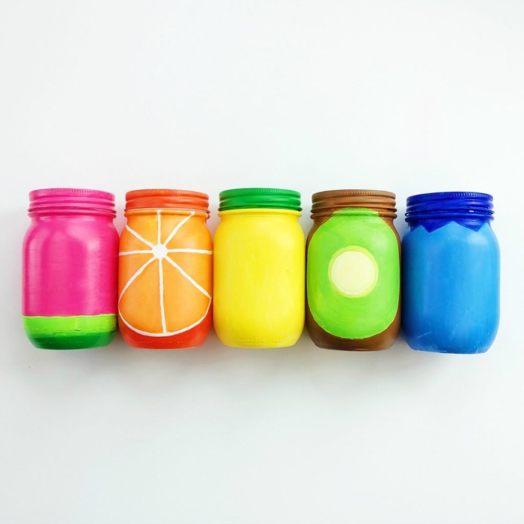 Rainbow Fruit Mason Jar Craft • Color Made Happy