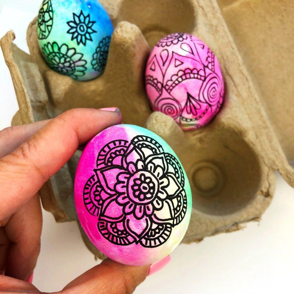 Easter egg Mandala Doodles
