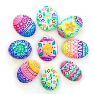 Rock Painting Designs Using Puffy Paint
