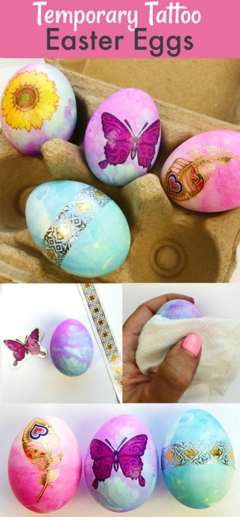 How to Make Temporary Tattoo Easter Eggs
