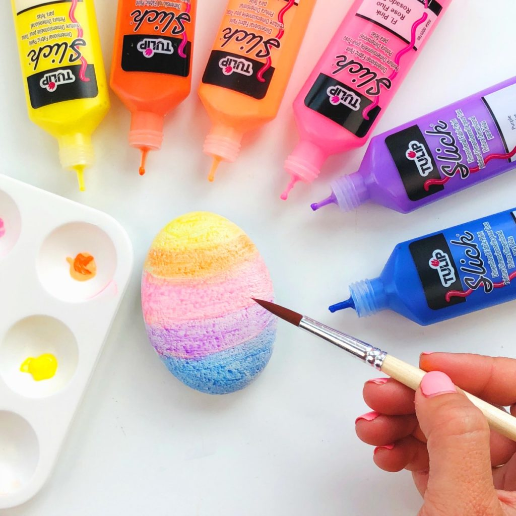 Rock Painting with Puffy Paints