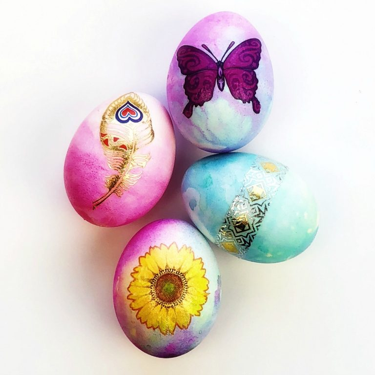 Temporary Tattoo Easter eggs craft