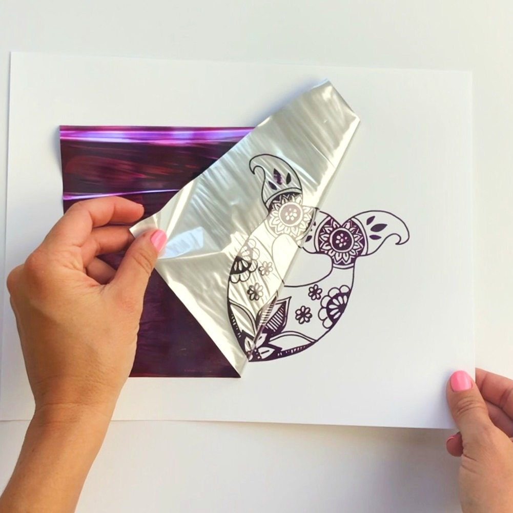 DIY Foil Art Prints