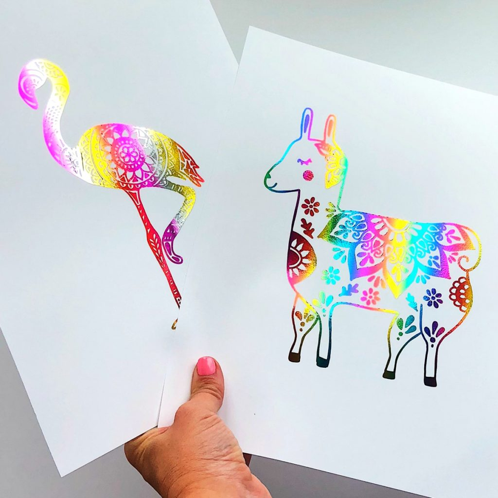 DIY Foil Art Prints - How to Make Your Own Foil Art