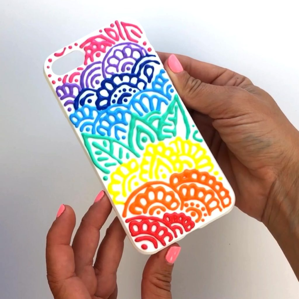 Puffy Paint DIY Phone Case