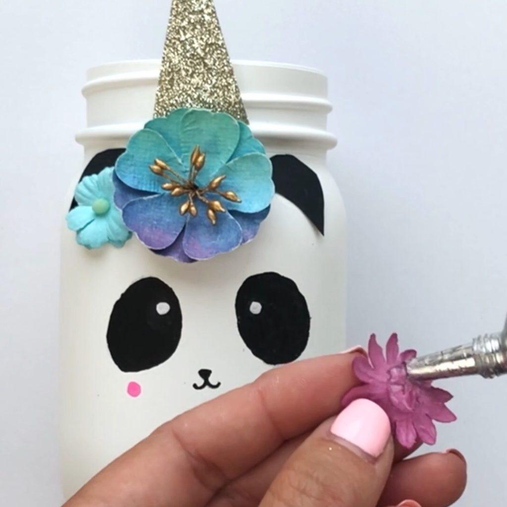 Pandacorn Unicorn Mason Jar Craft Color Made Happy