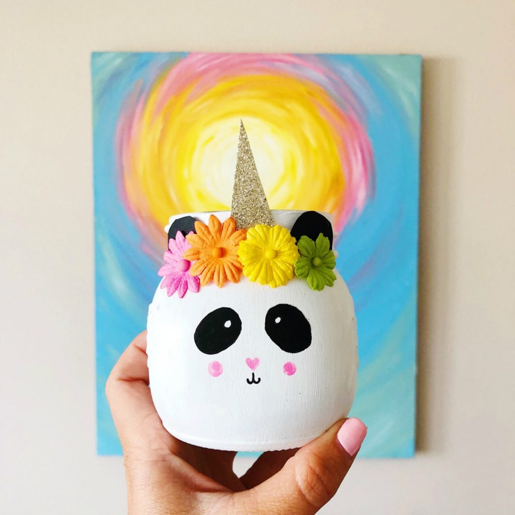 Pandacorn Unicorn Mason Jar Craft